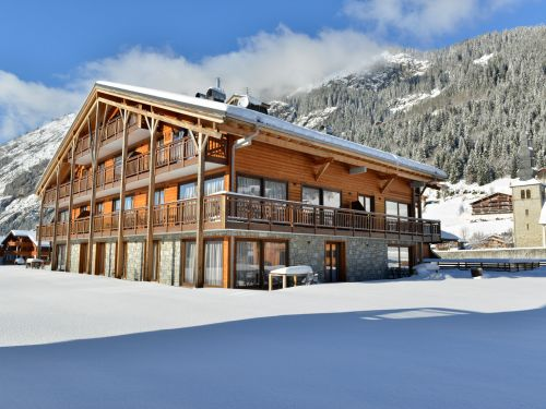 Apartment Mont Blanc Alpine Estate with fireplace and a private sauna