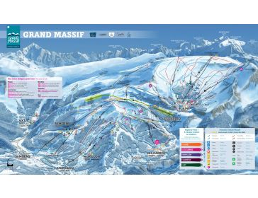 Piste map Le Grand Massif